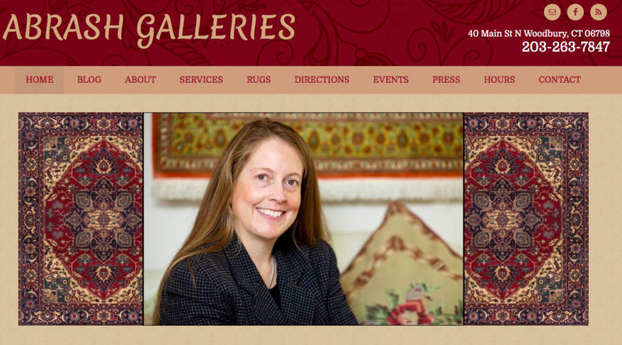 Abrash Galleries Website Design